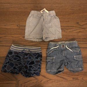 Bundle of Baby Gap shorts, 3 pairs.